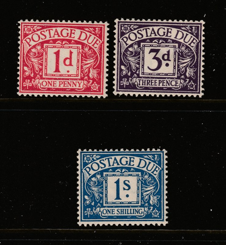 Great Britain x 3 MNH post dues from the Edward 8th era