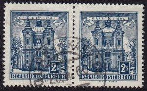 Austria - 1958 - Scott #625 - used pair - GURK in KÄRNTEN pmk