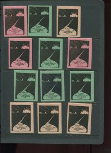 VINTAGE LOT OF 12 1931 MAGIC Poster Stamps SOCIETY OF AMERICAN (L1120)