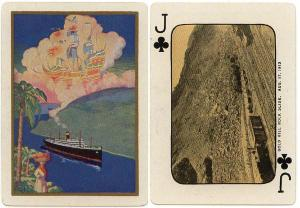 Panama Canal Zone 1926 Original Playing Card issued by the U.S. Playing Card Co.