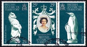 British Antarctic Territory # 71a-71c used ~ Coronation A...