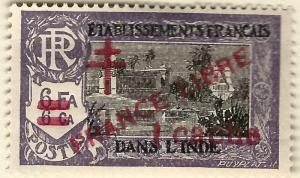French India SC #191 France Libre F-VF Mint hr.....Make me an Offer!
