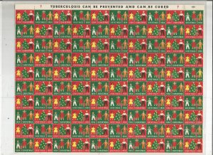 1954 CHRISTMAS SEAL, FULL SHEET