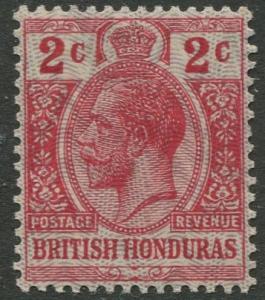 British Honduras- Scott 86- KGV Definitive -1915- MNH -Single 2c Stamp