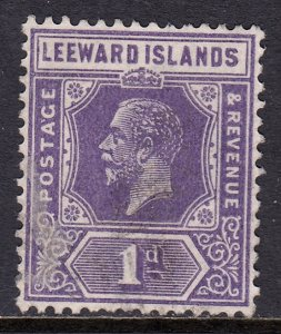 Leeward Islands - Scott #64 - Used - Paper adhesion on front - SCV $1.10