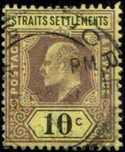 Straits Settlements SC# 98 Edward VII 10c Used