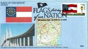 BGC 4285 Flags of Our Nation Georgia Lanier Bridge