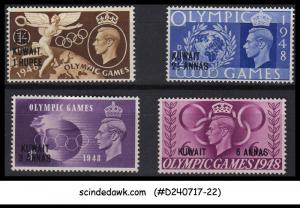 KUWAIT - 1948 OLYMPIC GAMES Overprinted SSG#76-79 4V - MINT HINGED