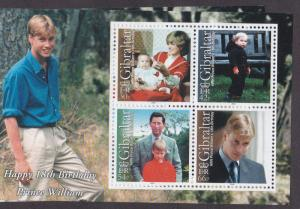Gibraltar 2000 # 845a, Prince Williams Birthday MNH