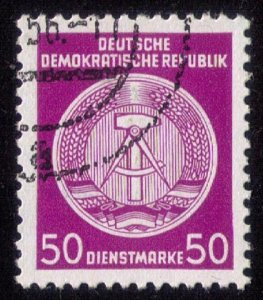 1956-1957 DDR - Rare 50 Diensrmarke - Coat of Arms - Germany Used VF/XF Superb