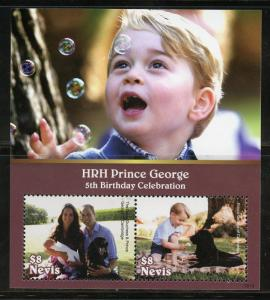 NEVIS  2018 5th BIRTHDAY OF PRINCE GEORGE SOUVENIR SHEET MINT NH