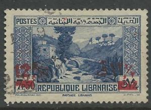 Lebanon #150  Dog River, surcharged    (1) VF Used