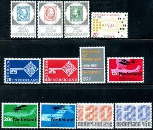 NETHERLANDS Sc#448-459 1967-1969 Six Complete Sets OG Mint Hinged