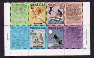 D3-USA-Marshall Is.-Scott#816-Unused NH block-Folktales-2003