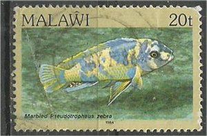 MALAWI 1984 used 20t  Aquarium  Scott 434