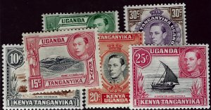 Kenya Uganda & Tanzania 71-75, 77 Mint, F-VF Value $9.50...Awesome!