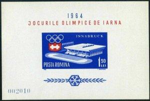 Romania 1604a,MNH.Michel 2211 Bl.55. Olympics Innsbruck-1964:Ice Stadium.