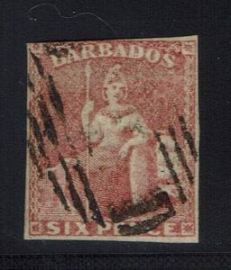 Barbados SG# 11a Deep Rose Red - Used - Lot 021216