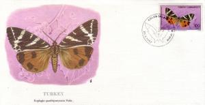 Turkey FDC SC# 2373 Euphaglia Butterfly L366