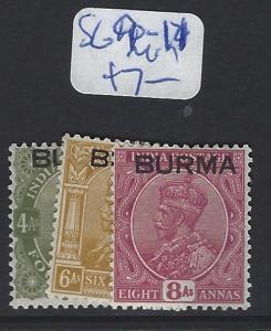 BURMA     (P2807B)   KGV  SG 9-11   MOG