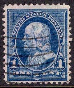 US Stamp #264 1c Franklin USED SCV $.60