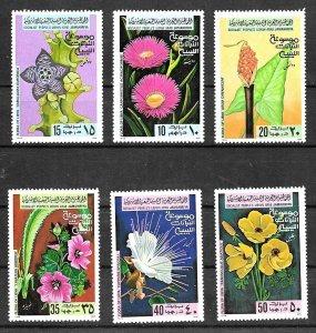 #8024 LIBYA 1979 FLORA FLOWERS COMPLET SET YV 770-5 MNH