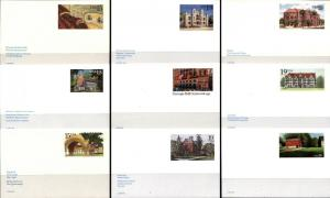 9 USA Postal Card Covers with Postage USPS Collection MINT