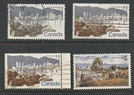 #599,599A,600,601 Canada Used