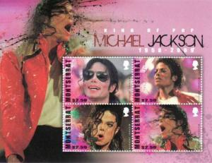 Montserrat 2010 Michael Jackson 4 Stamp  Sheet Scott #1245