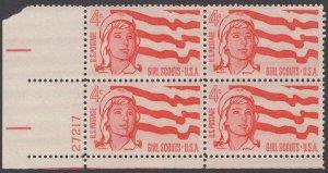 Scott # 1199 - US Plate Block of 4 - Girl Scouts - MNH - (1962)
