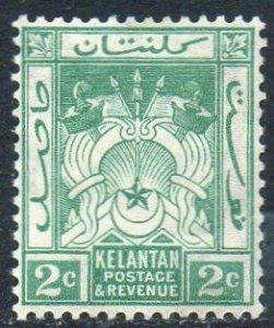 Kelantan 1926 2c green MH