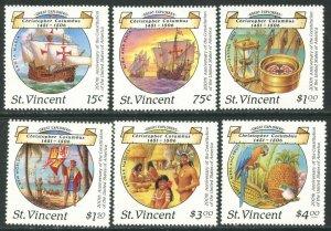 ST. VINCENT Sc#1087-1092 1988 Columbus & US Constitution Complete Set OG Mint NH