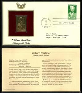 United States 1987 PCS FDC w/ 22 kt gold replica Scott# 2350
