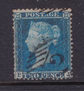 Great Britain a 2d blue QV from 1854 perf 14 used
