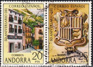 Andorra (Spanish) #102 c,d    Used