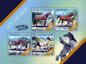 Niger MNH S/S Horses 2014 4 Stamps