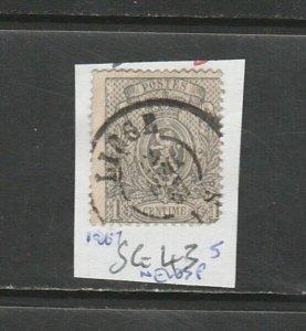 BELGIUM 1867 NEWSPAPER SG 43, USED