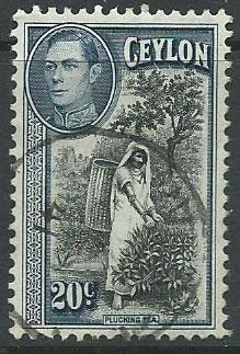 Ceylon George VI  SG 391 Used