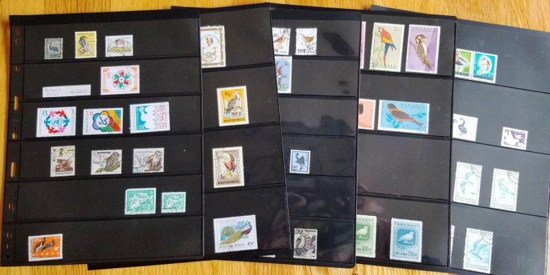 Topical bird's collection, 100 plus issues