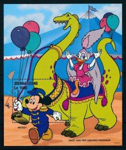 [107127] Sierra Leone 1996 Disney Mickey Mouse Daisy dinosaur Sheet MNH