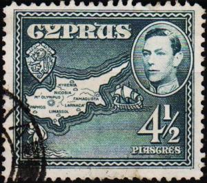 Cyprus. 1938  4 1/2pi S.G.157 Fine Used