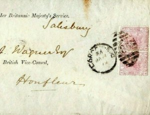 GB DIPLOMATIC Cover Signed Lord *Salisbury* 1879 BRITISH CONSULATE France A4G69