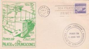 1951 Cuba Stamps Sc RA11  Communications Palace FDC