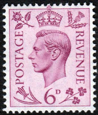GB KGVI 1937 6d Purple SG470 Mint Never Hinged MNH UMM
