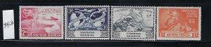NORTHERN RHODESIA SCOTT #50-53 1949 UPU ISSUE-  MINT LIGHT HINGED