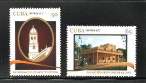 CUBA Sc# 5454-5455  CITY OF BAYAMO  Cpl set of 2 stamps  2013  MNH