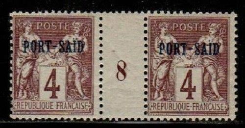 French Offices in Port Said Scott 4 Mint NH Millesime pair #8