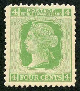 Prince Edward Is  SG39 1872 4c Yellow Green M/M Cat 12 pounds