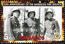 Barbados 2005 Three firefighters MNH**