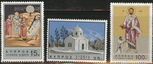 Cyprus Scott 269-71 MH* 1966 St. Barnabas set
